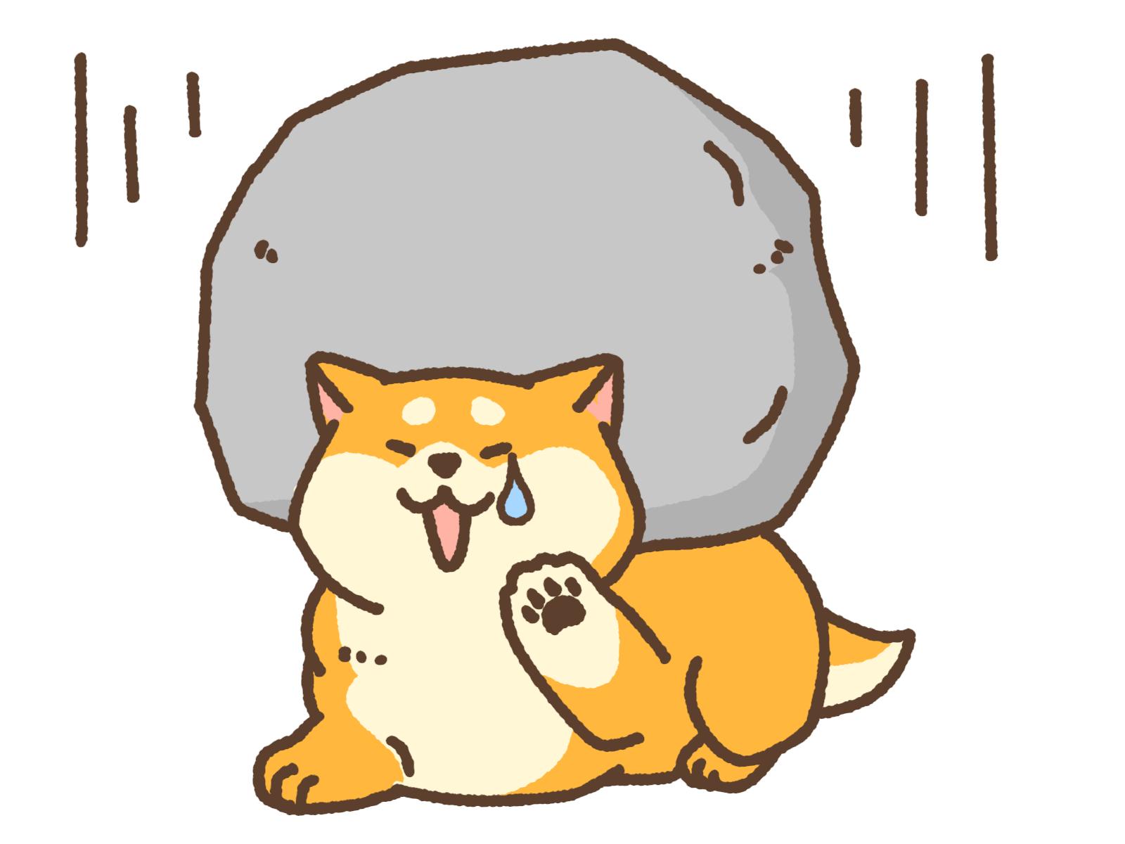 犬 プレッシャーの石の下敷き